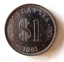 Rm1 Malaysia 1981 coin  # 387d