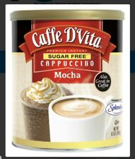 Caffe D'Vita Sugar Free Mocha Instant Cappuccino 8.5-Ounce Canisters (Pack of 1)
