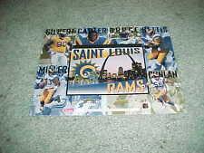 1995 St Louis Rams Upper Deck Football Card Sheet Issac Bruce Jerome Bettis