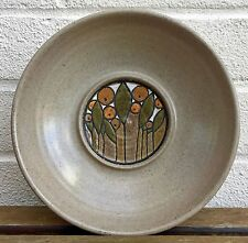 POOLE POTTERY 70s BROWN STONEWARE IONIAN / OLYMPUS SEVILLE ORANGE LEAF BOWL DISH