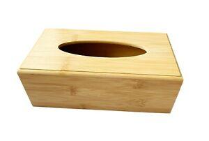 Wood Standard Tissue Box Cover -Large Wipe Dispenser Wet Wipe Case Napkin Holder