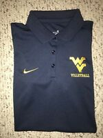 NEW Nike West Virginia Mountaineers Womens Volleyball Polo Shirt *M*
