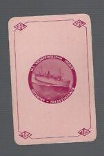 Swap Playing Cards 1 VINT EURO GOTEBORG FREDERIKSHAVN SHIPPING LINE  ADVT  S89