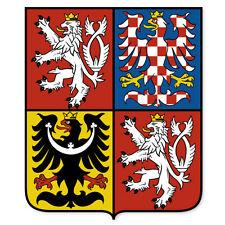 """CZECH REPUBLIC Coat of Arms bumper sticker 4"""" x 5"""""""