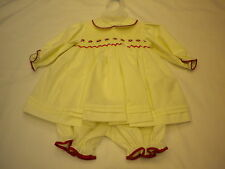 PRETTY ORIGINAL SMOCKED DRESS STYLE MC00579 SIZE NEWBORN-12MTHS CREAM OR WHITE