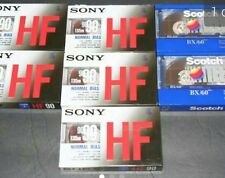 Lot  5 SONY Normal Bias 90mins & 2 Scotch 60mins Standard Size Cassette Tapes