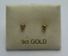 Butterfly 9 Carat Yellow Gold I1 Fine Diamond Earrings