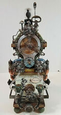 Steampunk Clock Jules Verne 20,000 Leagues Under the Sea One of a Kind Signed