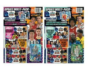 TOPPS MATCH ATTAX 2020/21 UPDATE PACKS #1, #2, #3 & #4  INCLUDING LE12 & LE13