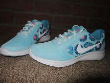 NUOVO Regno Unito 5.5 Donna Scarpe da Ginnastica Nike Revolution 3 stampa Aqua Blu Floreale Corsa Palestra