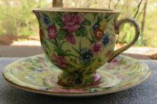 Royal Winton Kew Floral Chintz Demitasse Cup and Saucer Set England