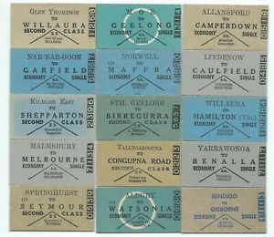 15 Different Victorian Country Single Tickets