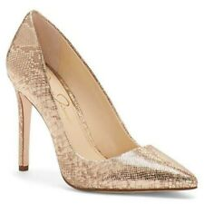 #2486 Jessica Simpson Praylee Pumps Gold Size 8.5M ~Alwaysaffordableshopping
