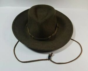 Stetson Yellowstone Pinchfront Crushable Hat 100% Wool Size Small Made in USA