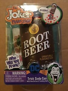 DC The Joker Prank Shop Trick Unnaturally Flavored Root Beer Soda Can New