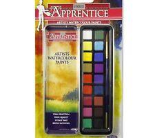 Watercolour Paints Art Craft Tin Set with Paint Brush- Kids School Water Colours