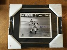Don Larsen Last Pitch Of Perfect Game Autographed 8x10 B&W Framed Steiner Sports