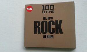 100 HITS ROCK 5CD: TOTO EUROPE EDGAR WINTER IGGY POP QUIET RIOT BANGLES ETC..