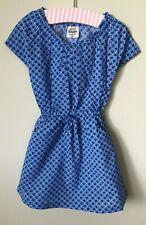 New ex Mini Boden Retro Print Dress 2-3 years blue apple print