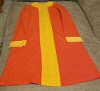 Vtg Women House Dress. Orange & Yellow  With Pockets from Montgomery Wards Store