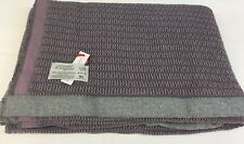 Scarlet & Argent Leno Thermal Weave Slate/Mauve Queen Size, Made  in England