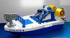 Lego Duplo~Polizeiboot~Schiff~Schnellboot~Hafen~Meer~Polizei Boot~Polizei~Figur