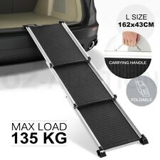 Petscene Deluxe Telescoping Aluminum Car Pet Cat Dog Ramp Ladder Steps Foldable