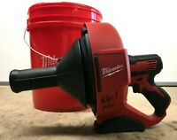 """Milwaukee 2571-20 M12 Drain Snake Cleaning Machine w/ 5/16""""X25' Cable GR JK001"""