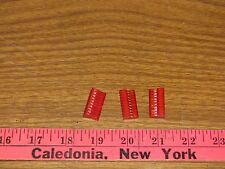 10P MTA100 CONN ASSY RED 22AWG lot of 3