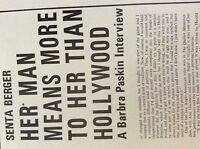 m9-9m ephemera 1970/s film article senta berger interview