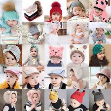Bébé Enfant Bonnet Chapeau Casquette Casquette Coton Tricot Fille Garçon Hat Cap