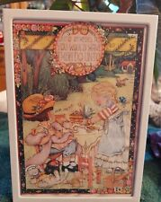 Mary Engelbreit Framed Picture Wall Art Vintage Do unto Others Self Standing Euc