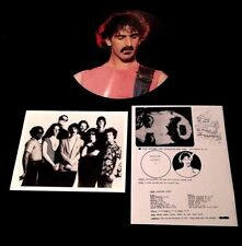 "FRANK ZAPPA + STEVE VAI LIVE NYC 12"" PICTURE DISC PHOTO INSERT 300 MADE IN 1984"