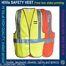 Custom Printed Reflective HI VIS SAFETY VEST print custom  - print  FULL colour