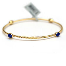 NWT DAVID YURMAN Confetti 4 Station Lapis Bangle Bracelet in 18K Yellow Gold Med