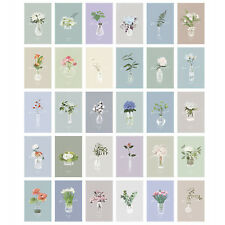 Lot 30 Flower Pot Culture Pattern Postcard Post Cards Bulk Set for Postcrossing