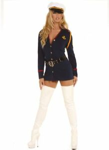 Gentlemans Officer Sexy Cosplay Adult Womens Costume Cop Police Halloween Party