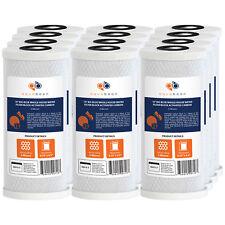 "12PK of Big Blue 5µm Coconut Shell Carbon Block Water Filter Cartridge 10""x4.5"""