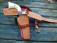 Reddog Leather Cowboy Western Holster and Belt, Spaghetti Western Rig!