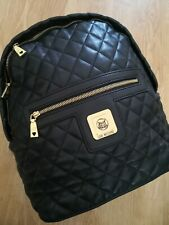 Moschino Black Quilted Backpack