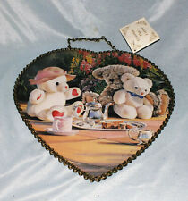 Victorian Flue Cover Teddy Bears Tea Party