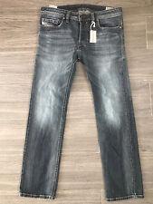 Diesel *SALVAGED* SAFADO wash 0885K Stretch Slim Straight Jeans size 33 W x 30 L