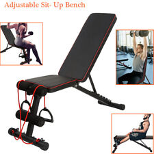 Adjustable Bench Chair Press Flat Incline Fly Weight Workout Exercise FitnessGym