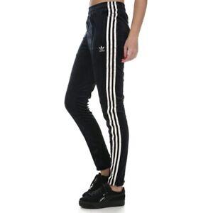 Adidas ZBR PANTS Velour Jogginghose Samt Trainingshose Hose Mädchen schwarz/gold