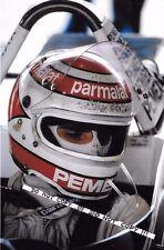 Fotografía 9x6, Nelson Piquet Brabham casco retrato temporada 1981 Grand Prix