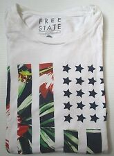 FREE STATE  Short Sleeve T- Shirt , M , White