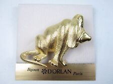 with Swarovski Crystals 0001 D'Orlan Gold Plated Bloodhound Brooch