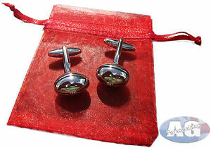 Rugby Ball Cuff Links. Cufflinks in Bag or Personalised Box