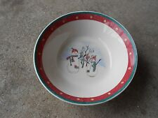 "Royal Seasons  Christmas  Snowman  SOUP BOWL  6 1/2"" x 2"" Deep"
