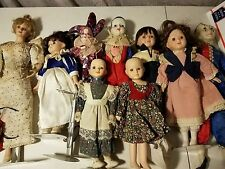 Lot of vintage porcelain dolls (from estate)
